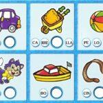 """Aprender a leer: Tarjeta de ejercicios para sílabas que comienzan por la letra """"T"""""""