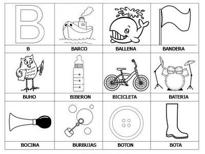 Aprender a leer - primeras palabras - B