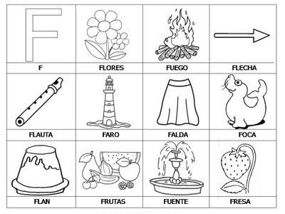 Aprender a leer - primeras palabras - F