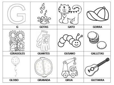 Aprender a leer - primeras palabras - G