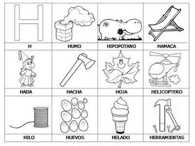 Aprender a leer - primeras palabras - H