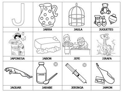 Aprender a leer - primeras palabras - J