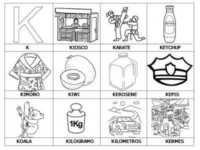 Aprender a leer - primeras palabras - K