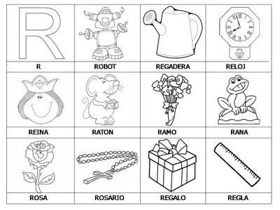 Aprender a leer - primeras palabras - R