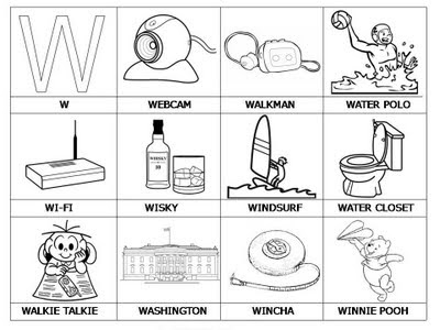 Aprender a leer - primeras palabras - W