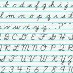 ¿Letra ligada o de imprenta?